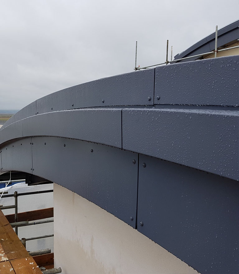 Aluminium Fabrication Roof Ash and Lacy